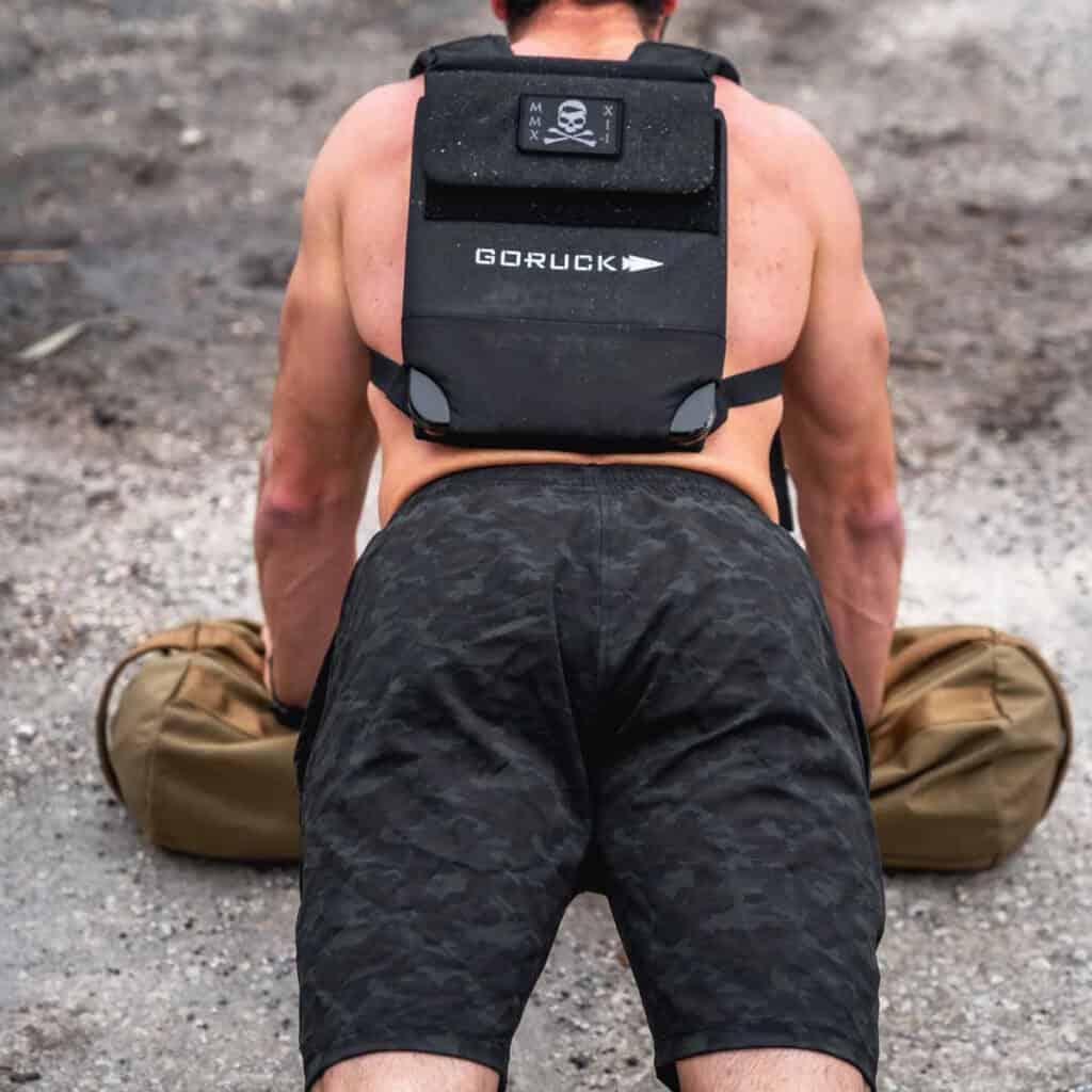 GORUCK Men's American Training Shorts dark camo push up