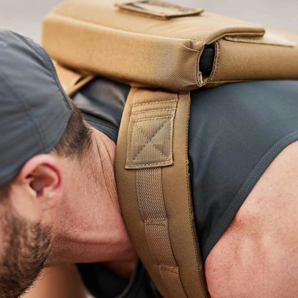 GORUCK Ruck Plate Carrier 2.0 coyote brown strap