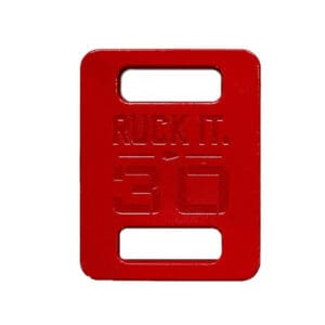 GORUCK Ruck Plates red close up