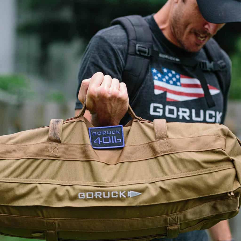 GORUCK Sandbags 40lb coyote lifting