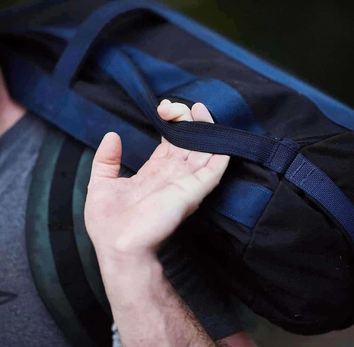 GORUCK Sandbags 60lb black blue carried
