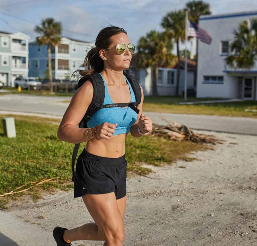 GORUCK Womens American Training Shorts running