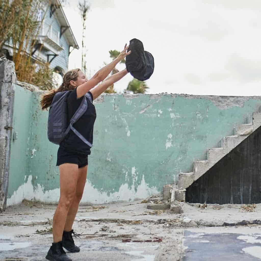 GORUCK Womens American Training Shorts throwing