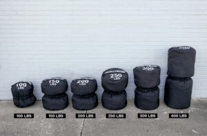Get RX'd Colossus Sandbags front different weights