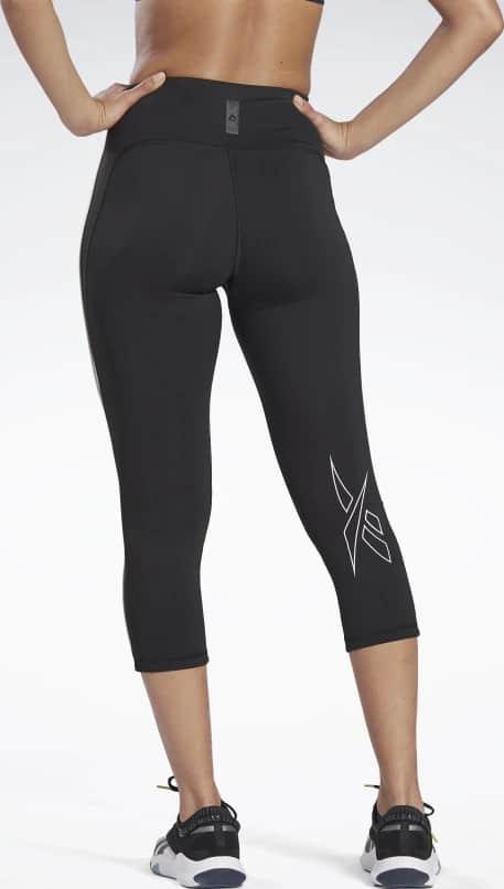 High-Rise ¾ Length Leggings back view when worn