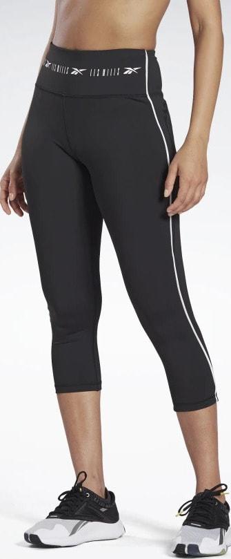 High-Rise ¾ Length Leggings fornt view when worn