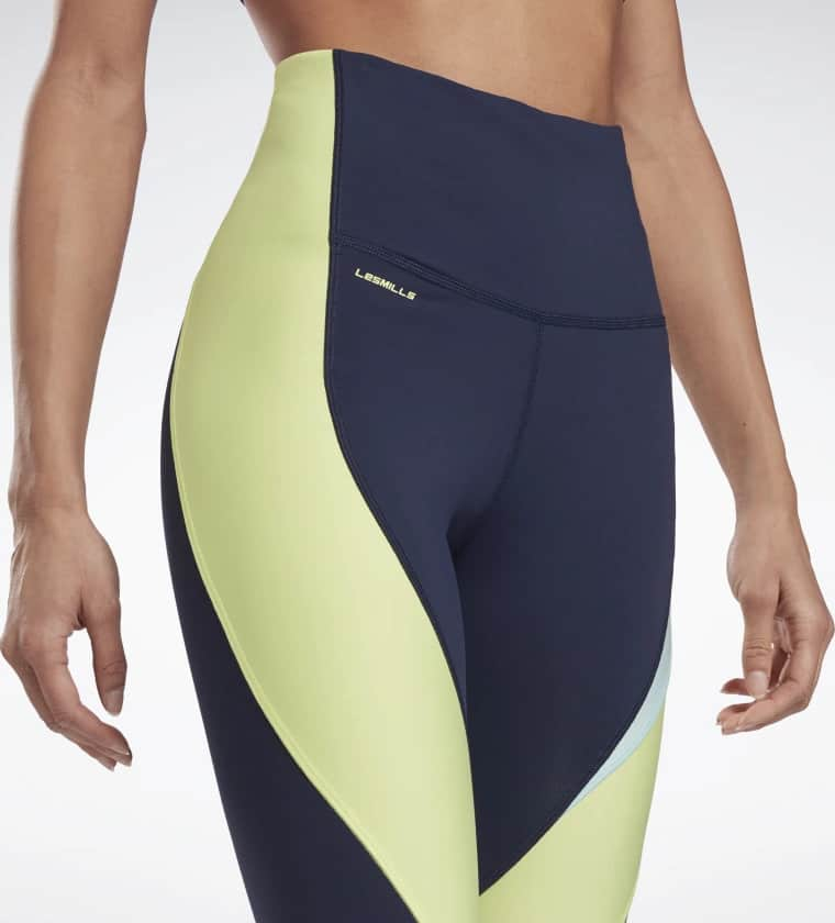 High Rise Colorblock Lux Leggings waistband