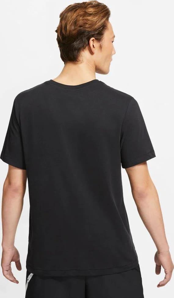 Nike Mens Dri-FIT Training T-Shirt Black back view