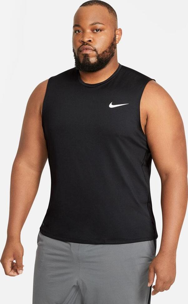 Nike Mens Pro Sleeveless Top Black worn front
