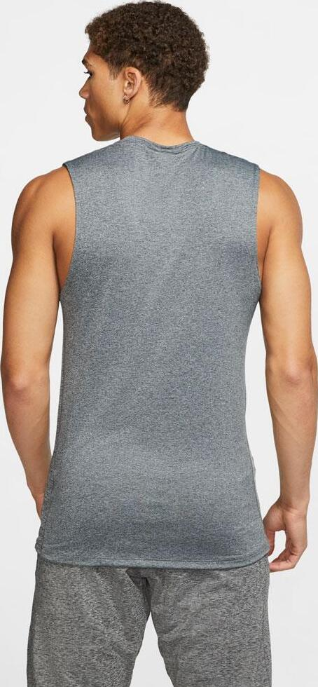 Nike Mens Pro Sleeveless Top Gray Particle Gray back view