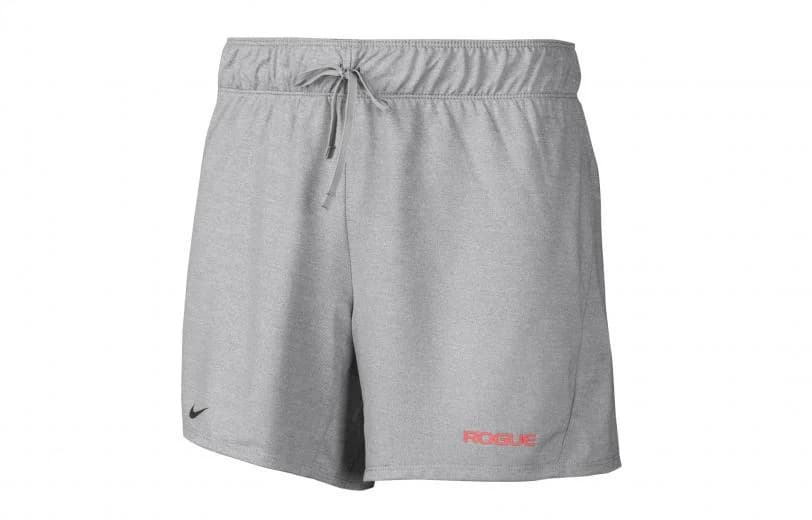 Nike Women's Attack Shorts Particle Gray Heather Front