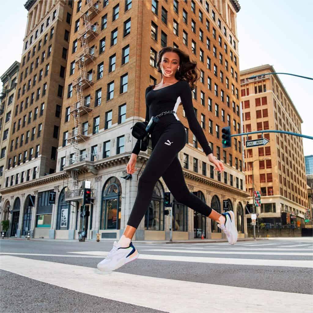 PUMA Classics Womens High Rise Ribbed Leggings casual
