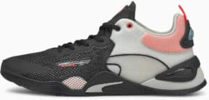 PUMA FUSE Training Shoes Puma Black-Poppy Red-Gray  side view left