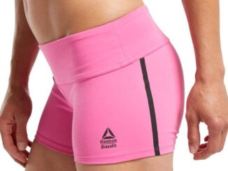 Reebok CrossFit Chase Bootie Shorts pink side