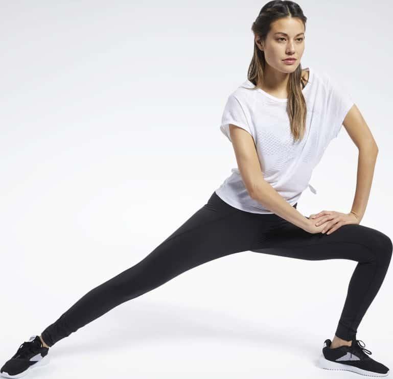 Reebok Lux 2 Leggings lunging