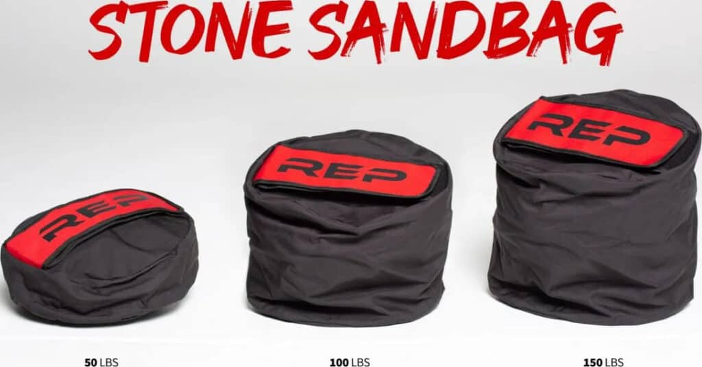 Rep Fitness Stone Sandbags different weights