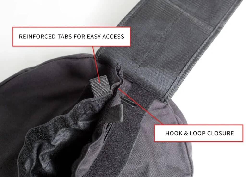 Rep Fitness Stone Sandbags hook and loop closure