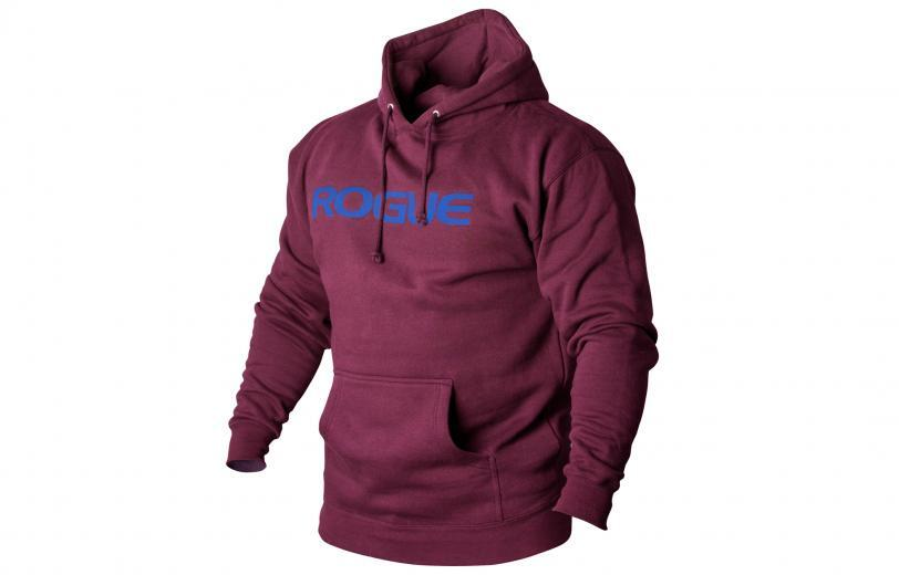 Rogue Basic Hoodie Maroon with Blue Text