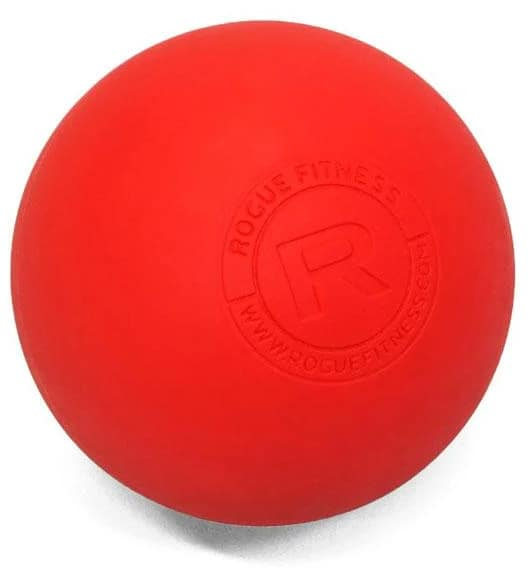 Rogue Lacrosse Balls red up close