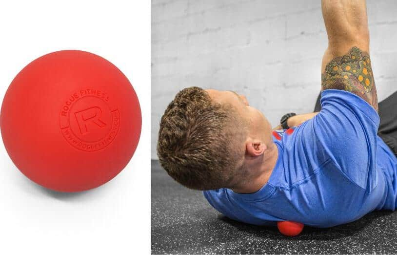 Rogue Lacrosse Balls used to relax back muscles