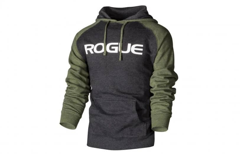 Rogue Midweight Basic Hoodie Heather Gray and Army Green