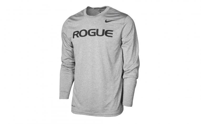 Rogue Nike Dri-Fit Legend 2.0 Long Sleeve Tee Heather Gray full view front