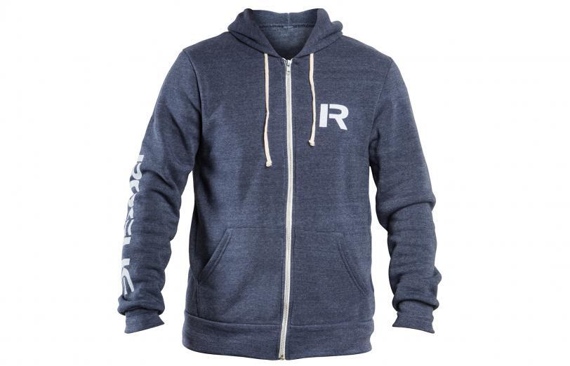Rogue Stencil Hoodie Navy Front