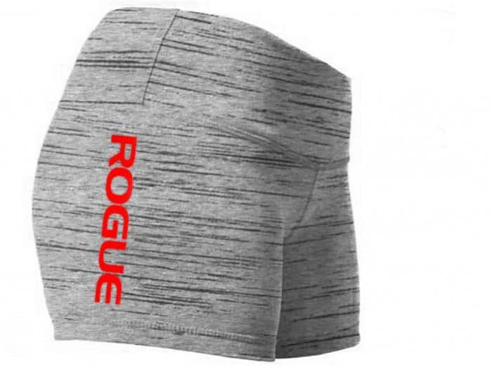 WOD Gear Clothing Wide Band Booty Shorts gray quarter view