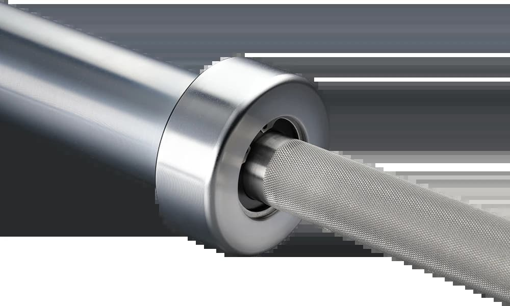 American Barbell Stainless Bearing Bar middle close