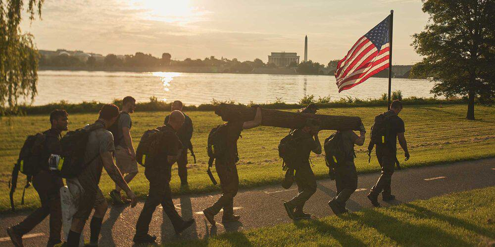 GORUCK Events Rucking with Flag