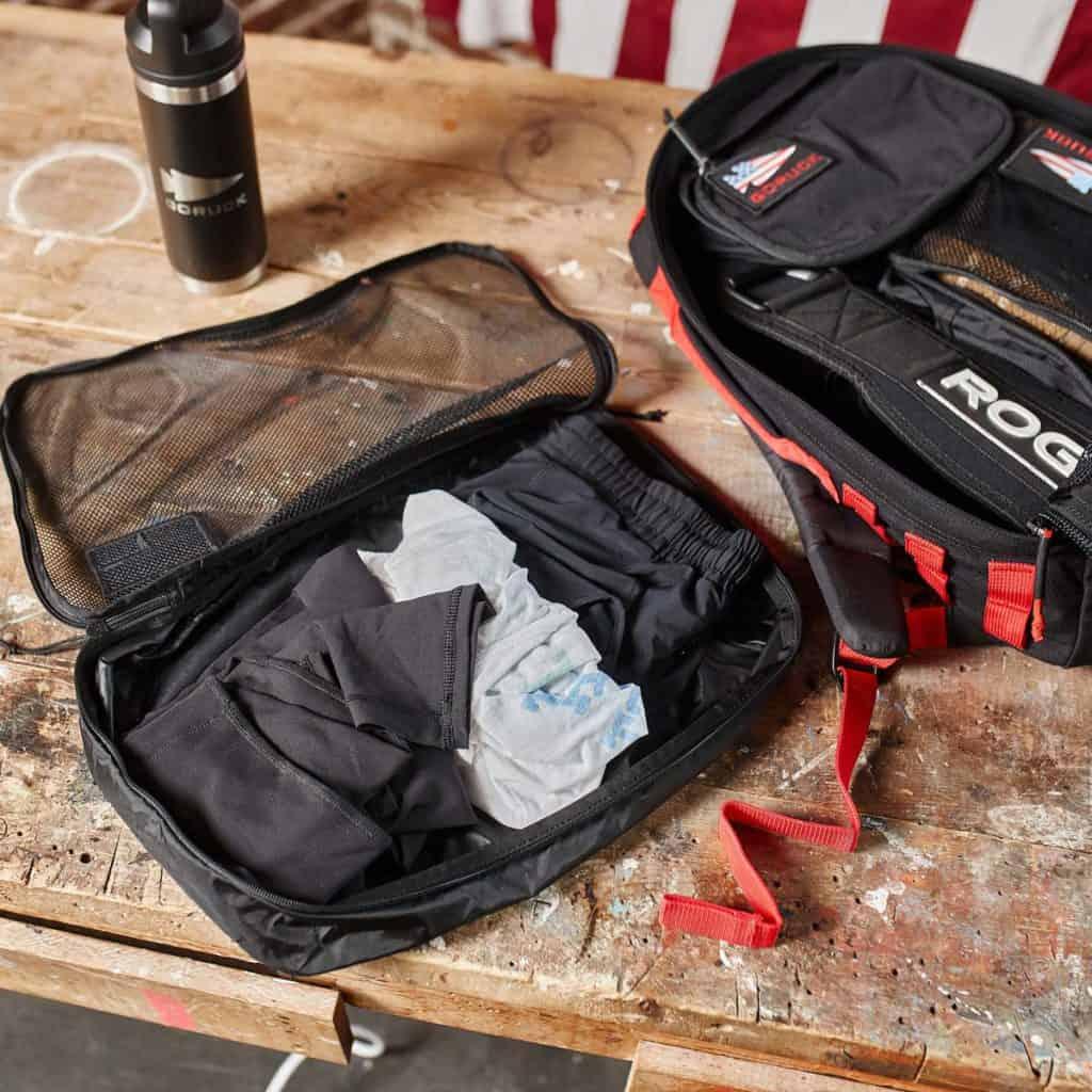 GORUCK Packing Cubes flat clothes open