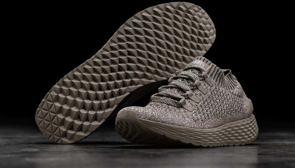 NOBULL Knit Runner Clay pair outsole and upper