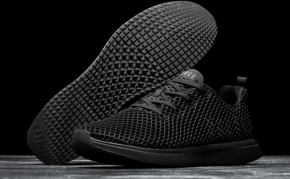 NOBULL Mesh Runner Black pair with outsole