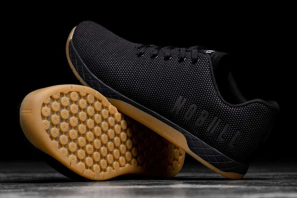 NOBULL Trainer Black Gum pair with outsole