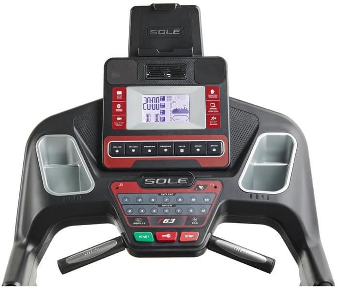 Sole F63 Treadmill monitor