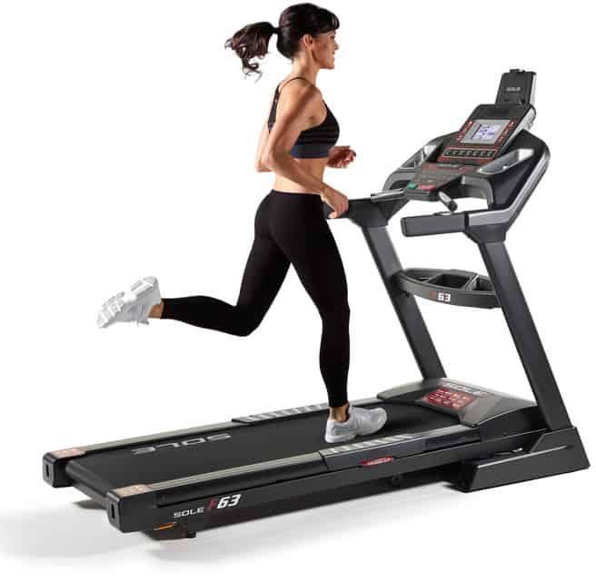 Sole F63 Treadmill running