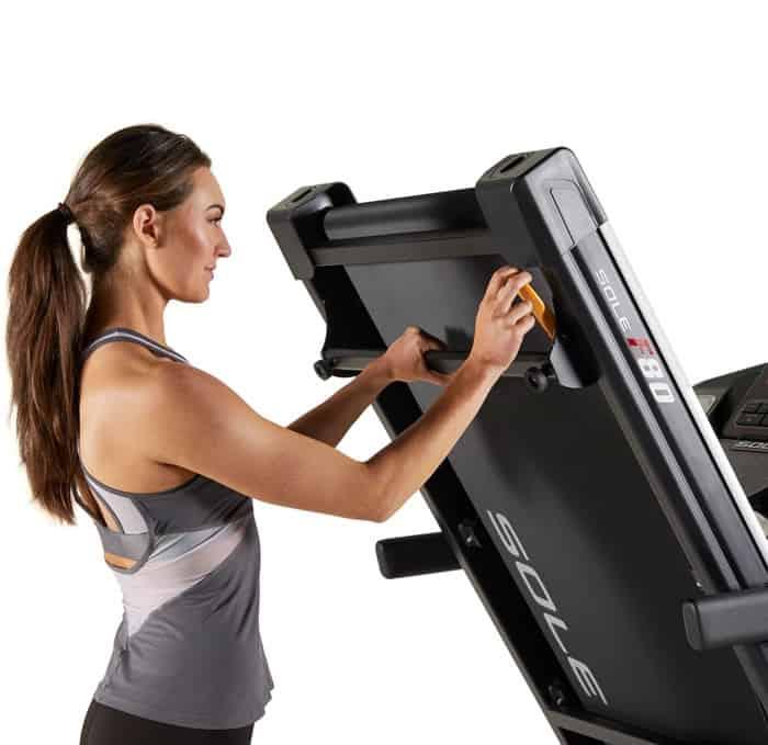 Sole F80 Treadmill close up folding