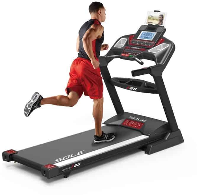 Sole F80 Treadmill man running