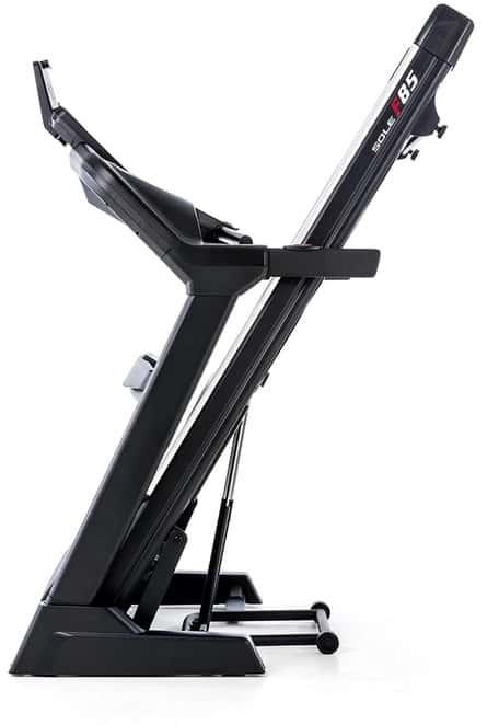 Sole F85 Treadmill folded side view