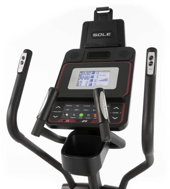 Sole Fitness E25 Elliptical console full