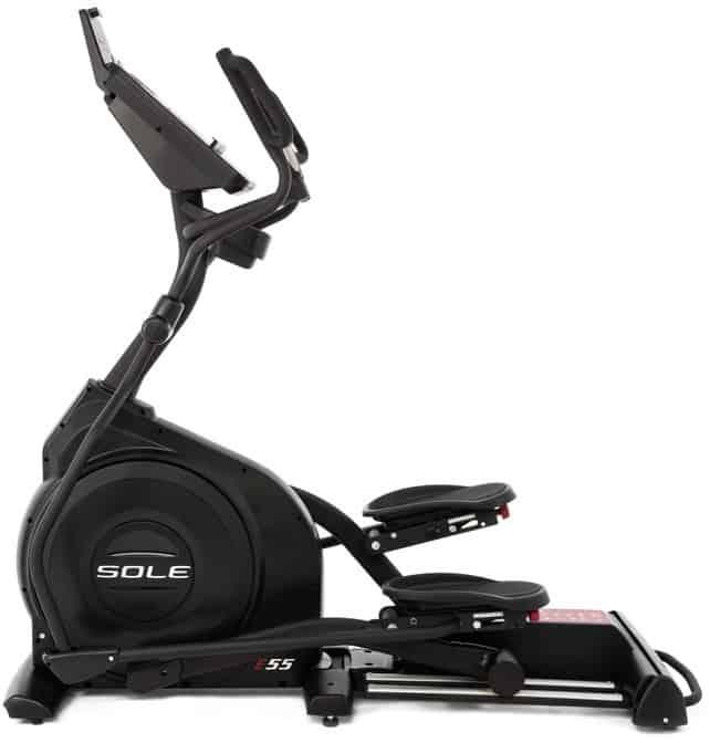 Sole Fitness E55 Elliptical left side
