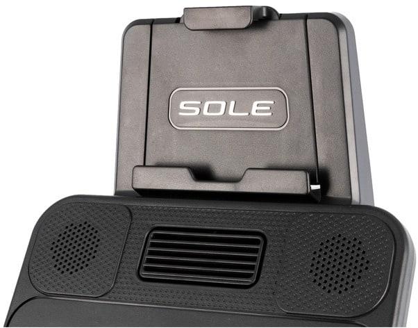 Sole Fitness LCR Recumbent Bike tablet holder