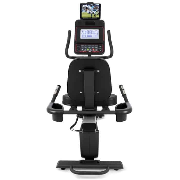 Sole Fitness R92 Recumbent Bike back with tablet