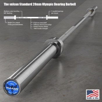 The Vulcan Standard 28 mm Olympic Training Barbell description