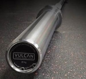 Vulcan 20kg Mens Training Olympic Bearing Barbell front view