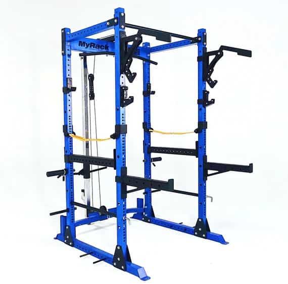 Force USA MyRack Modular Power Rack blue lat