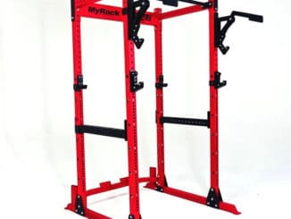 Force USA MyRack Modular Power Rack red attachments
