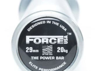 Force USA Powerlifting Barbell end 1