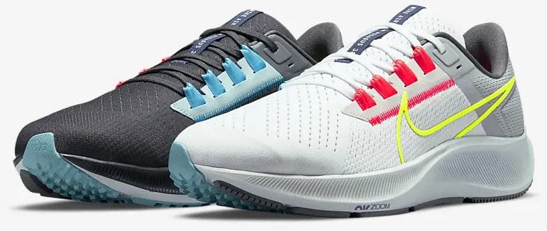 Nike Air Zoom Pegasus 38 Limited Edition Dark Smoke Grey-White-Flash quarter left