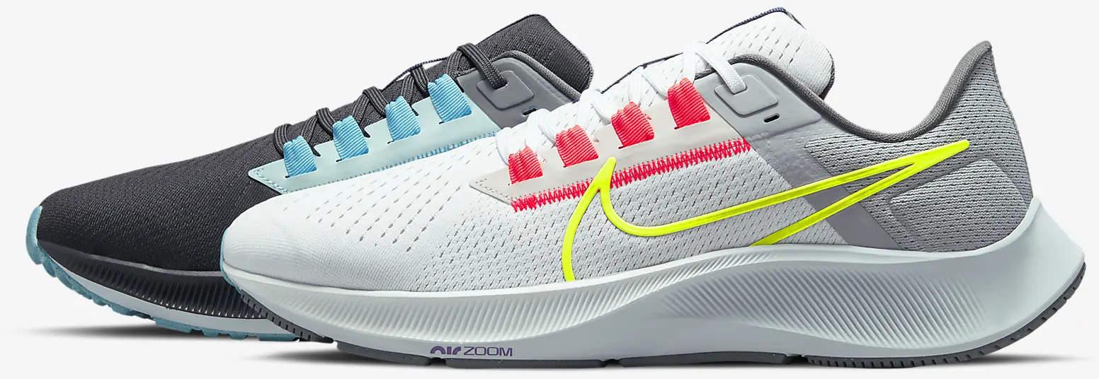 Nike Air Zoom Pegasus 38 Limited Edition Dark Smoke Grey-White-Flash side view left